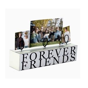 Forever Friends Wood Block Tabletop Picture Holder